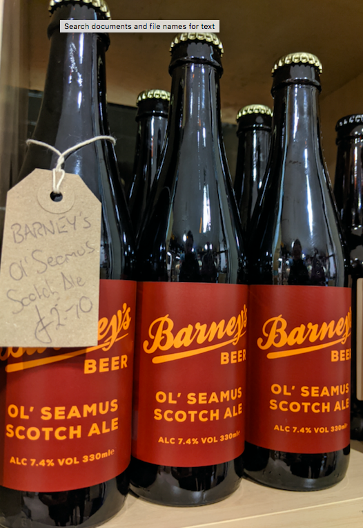 Scotch Ale from Barney's Beer