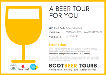 ScotBeer Tour Gift Card