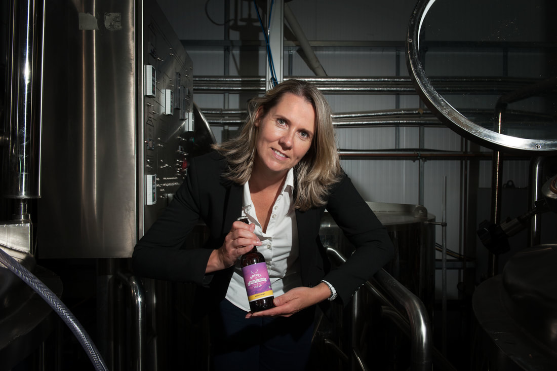 Photo of Jo Stewart co-founder of Stewart Brewing